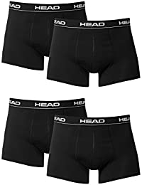 4 x pack Head Men's Boxer Shorts /Black / Size L / with Elastic Waistband