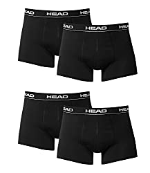 HEAD Herren Boxer Boxershort Unterhose 4er Pack black 200 - XL