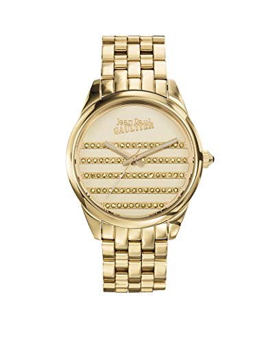 Reloj mujer JEAN PAUL GAULTIER–Navy–Pulsera PVD acero dorado–37mm–8502405