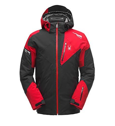 Spyder Leader Herren Ski Jacke - schwarz XL - Jacke Ski Herren Rot