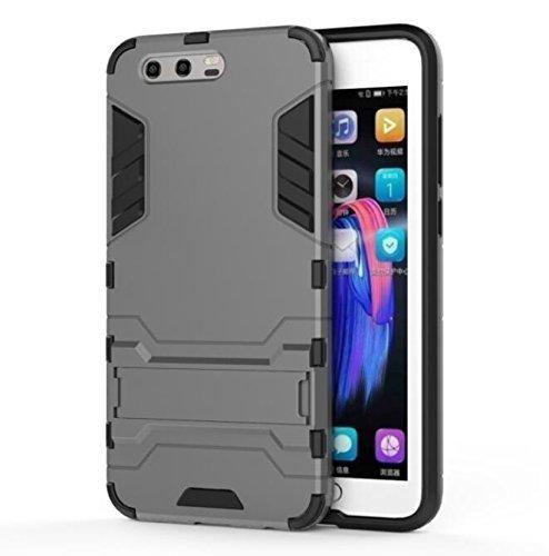 Huawei Honor 9 4G 5.15 zoll 2017 / 2018 HYBRID case grau Tasche Hülle mit stand - Zubehör Etui cover Honor 9 Dual SIM (gray) - XEPTIO accessoires