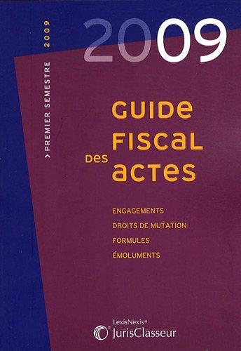 Guide fiscal des actes (ancienne édition)
