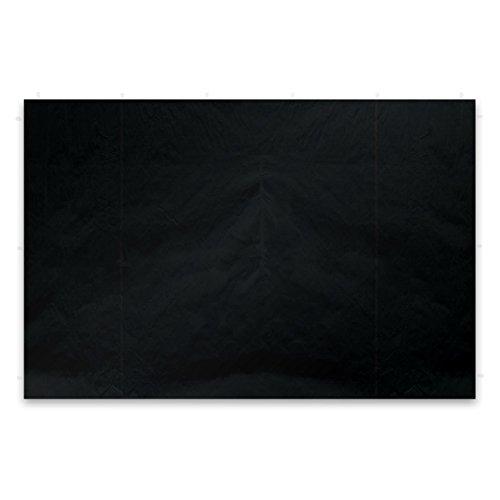Nexos 2 Stück Seitenwände Seitenteile Ersatzwände ohne Fenster für Falt-Pavillon - 295 x 215 cm/PE 180 g/m² - hochwertig - Farbe: schwarz