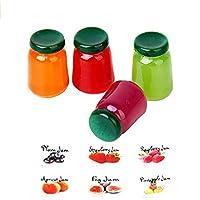 mi ji 1/12 Doll House Miniatures Kitchen Display Fruit Jam---4 Bottles