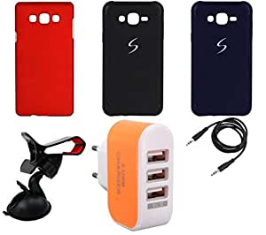 NIROSHA Cover Case Mobile Holder Charger car for Samsung Galaxy ON5 - Combo