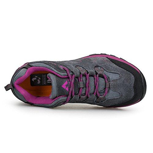 chaussures de marche Unisexe adultes en daim Derbies Beau sportif Hiver Sneakers Rose