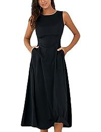 Donna Vestito da Sera Eleganti Estivi Moda Senza Maniche Vestiti di Swing  Fishtail Abito da Cerimonia 7430556071f