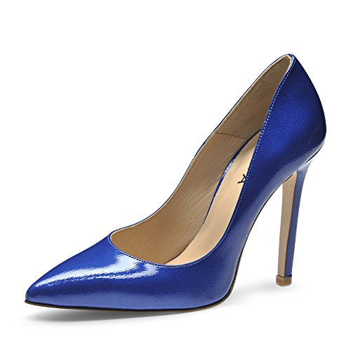 Evita Shoes Mia Scarpe col tacco donna vernice con rilievo blu royal