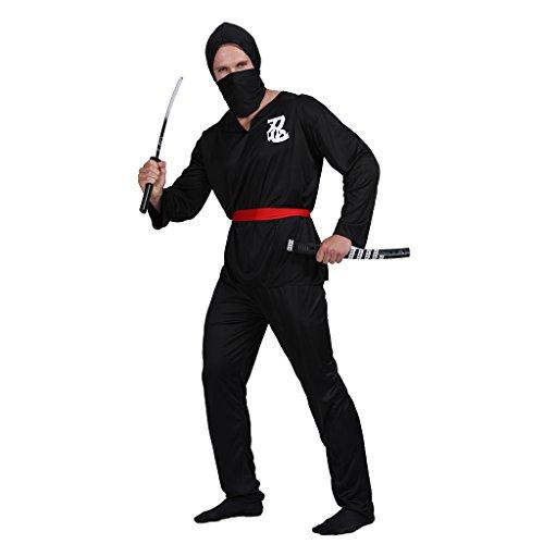 Schatten Ninja Kostüm - EraSpooky Herren Ninja Kostüm Faschingskostüme Cosplay Halloween Party Karneval Fastnacht Kleid für Erwachsene
