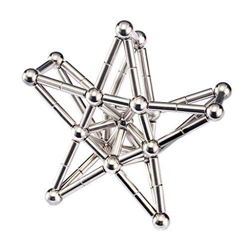 usteine Konstruktion Baukasten Puzzle Stapelspiele Skulptur Schreibtisch Spielzeug (Silber) ()