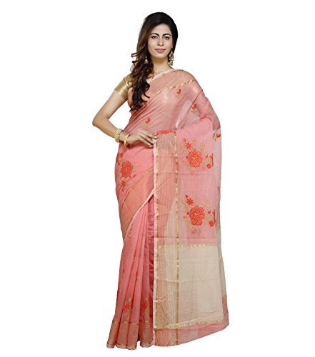 Vedika Creations Peach Colour Supernet Saree Fancy Sari
