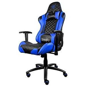 "Thunder X3""Aerocool Pro Gaming Chair, in ecopelle, colore: Nero/Blu"