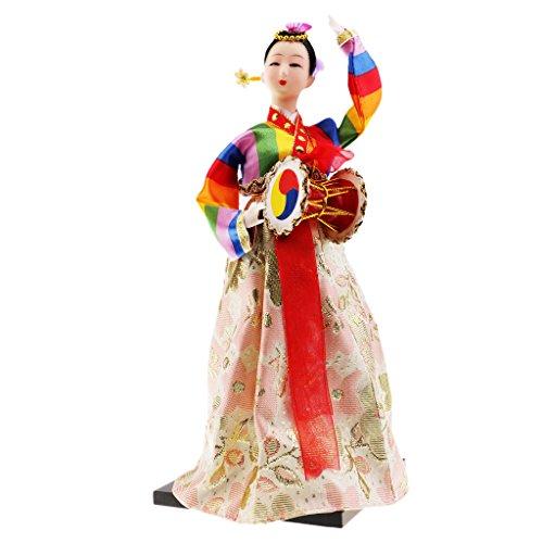 perfk Schöne Koreanische Puppe Oriental Puppe Haus Dekoration Geschenk für Mädchen - # ()