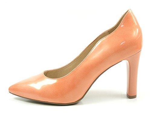 Caprice 9-22402-20 Damen Schuhe Lack Pumps High Heels Weite G, Schuhgröße:39;Farbe:Orange
