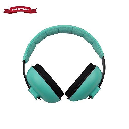 Protear enfants casque anti-bruit, Réduction de bruit Cache-oreilles, bandeau réglable protection auditive Pour Bébé 3 Mois à 12 Ans,Menthe verte