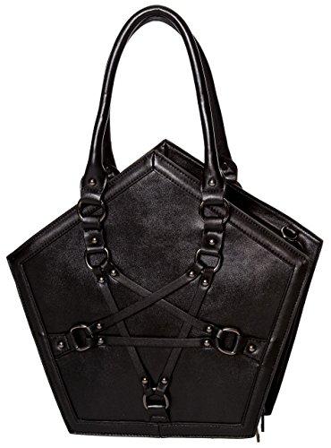 Banned Apparel Evocation Fünfzack Gotik schwarz Riemen Handtasche