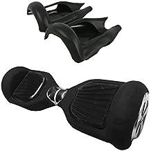 2 Ruedas 6.5 Pulgadas Protector Cubierta Funda de Silicona para Hoverboard Smart Scooter Balance Patinete Electrico Dos Ruedas - negro