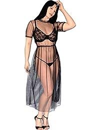 Vestido tul transparente de chifón Babydoll playa Talla S-M