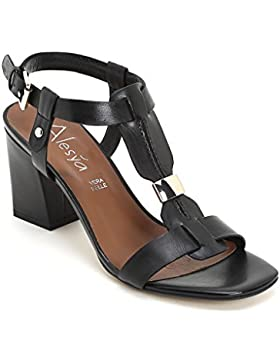 ALESYA by Scarpe&Scarpe - Sandalen mit Absatz und vergoldetem Accessoire