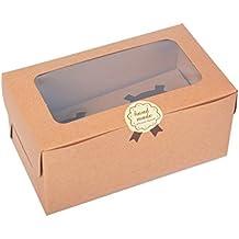 Kraft Bakery - Juego de 12 cajas para magdalenas con ventana/cartón de PVC 2