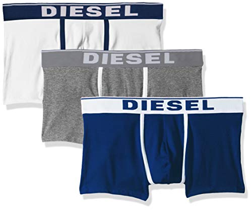 Diesel Herren Boxershorts UMBX-DAMIENTHREEPACK, 3er Pack, Mehrfarbig (Blue/White E4120), Medium