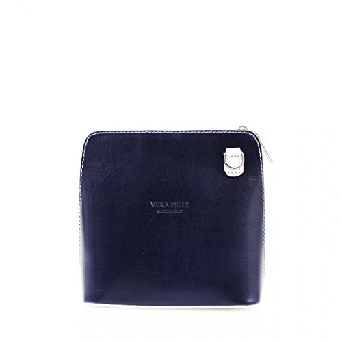 Vera Pelle, Borsa a tracolla donna Navy with Beige