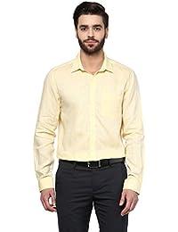 Turtle Men's Formal Shirt (8907429287659_56100-1003_39_Lemon)