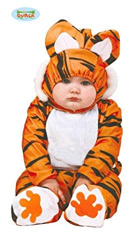 Baby Tigerkostüm für Kinder Babykostüm Tiger Kostüm Tierkostüm Safari Gr. 74-92, Größe:86/92 (Kostüme Baby-tiger Halloween)