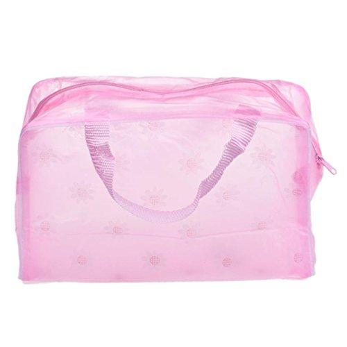 Sac, Koly Maquillage Portable CosméTique De Toilette Voyage Wash Brosse à Dents Pouch Sac Organisateur (Rose)