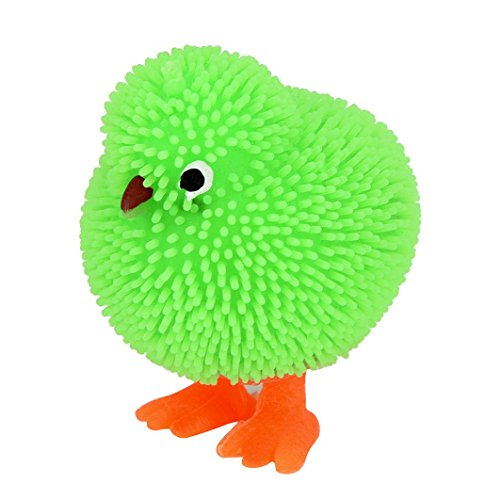 LCLrute 6 CM Neuheit Flashing Puffer Nette Hühner Squidgy Sensorische Spielzeug Aktivität und Spielen Ball (Zufällige Farbe)