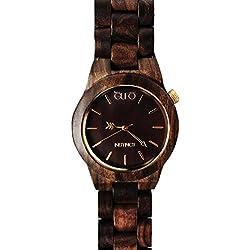 Holz Eule Uhr Instinct Italien