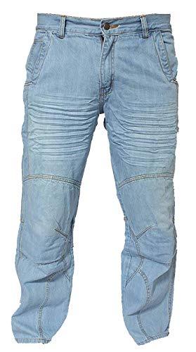 Newfacelook Faded Falten Blau Motorrad Armour Jeans Hose verstärkt mit Aramid Schutz Futter