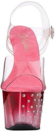 Pleaser Stardust 708t, Des sandales femme Transparent (Clr/Pink Clr)