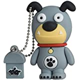 Tribe Animals The Originals Pendrive - Memoria USB Flash Drive 2.0, de goma, de 8 GB con llavero, diseño Bill el Perro Bulldog