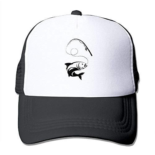 Voxpkrs Fish On Men's Einstellbare Hüte Hip Hop Caps | Baseballkappe Netzrücken ()