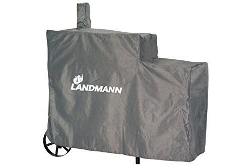 LANDMANN Luxe fumoir Taille XL Housse de Protection Contre Les intemperies, Noir, 140x65x114 cm