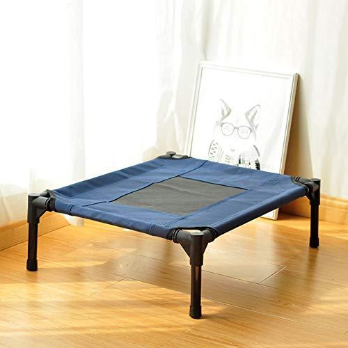 QYJpB Pet Camp Bed Hundebett Big Kennel Dog Camp Bed Katze Hund Pet Große Hundebett Vier Jahreszeiten Hundebett (Color : Blue, Size : L 91x76cm)