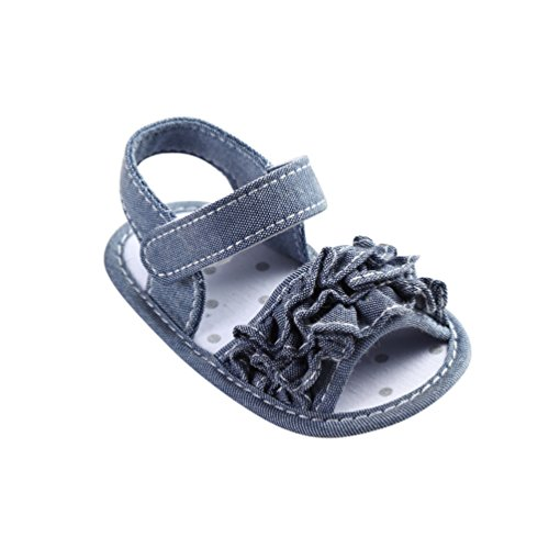 CHENGYANG Bambino Ragazze Antiscivolo Scarpe Sandalo Estivo Scarpine Fiore Primi Passi Camminatori Grigio