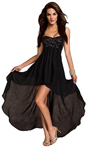 Kleines Bustier (aimerfeel Damen schwarzen Bustier-Kleid mit Pailletten Top und Größe von 40 bis 42 oder klein 44 zurückfließt)