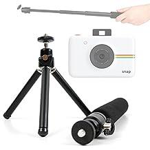 DURAGADGET Trípode De Mesa + Barra Telescópica Extensible Para Cámara Rollei Sportsline 60 , Polaroid Snap - ¡Set Ideal Para Viajes!