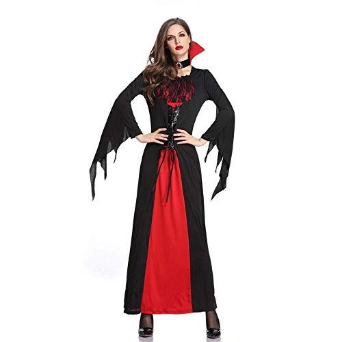 Fashion-Cos1 Halloween Kostüme Deluxe Ghost Bride Königin Fledermaus Zombie Vampir Hexe Kostüm Maskerade Rollenspiel Uniform (Size : M)