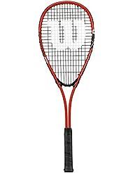 Wilson Impact Pro 300 1/2 Cvr Raqueta de Squash, Unisex Adulto, Rojo / Negro, Talla Única