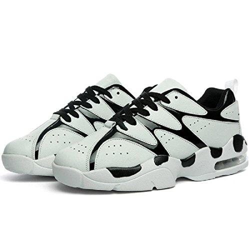Hommes Chaussure de basket-ball Mode Chaussures de sport Respirant Formateurs Baskets Chaussures de voyage TAILLE 39-44 White