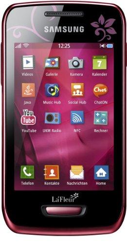 Samsung Mobile Samsung Wave Y S5380 La Fleur Smartphone (8,1 cm (3,2 Zoll) Display, Touchscreen, 2 Megapixel Kamera, UMTS) wine-red - La Fleur