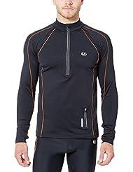 Ultrasport Jimi - Camiseta de correr de manga larga para hombre, color negro