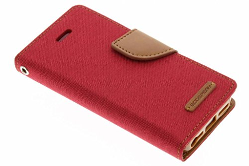 Canvas Diary Case für iPhone 5/5s/SE - Rot