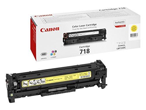 Canon 718Y Cartouche toner pour Imprimante laser LBP7200Cdn / MF8330C / MF8350C Jaune
