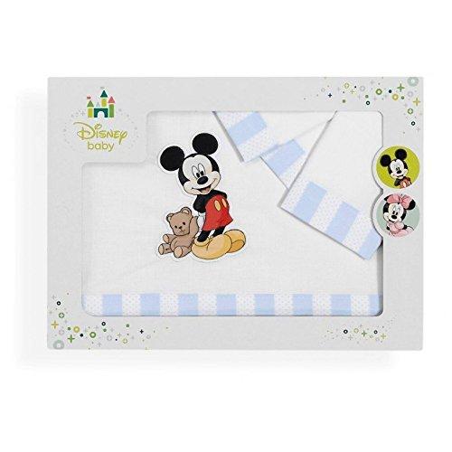 Sabanalia - Juego de sábanas para cuna Mickey (Disponible en varias medidas) - Maxicuna (70x140)