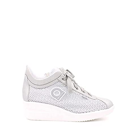 Agile By Rucoline 226 A Sneakers Femme Suède/tissu Argent Argent 38