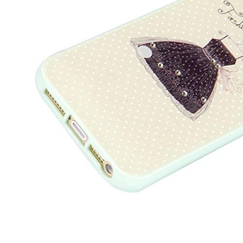 Felfy Coque Pour Apple iPhone 5/5S/SE Housse de Protection Etui Ultra Mince Bling Diamant Silicone TPU Cadre & Acrylique Back Coque Soft Case Cas Fresh et lovely Motif Coque Ultra Slim Housse Poids Lé Corde à Linge